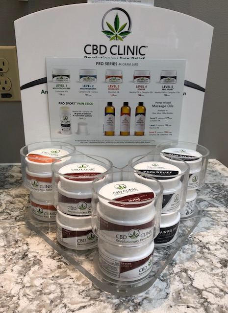 CBD Clinic pain relief products