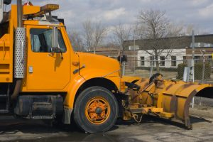 large truck with plow on the front